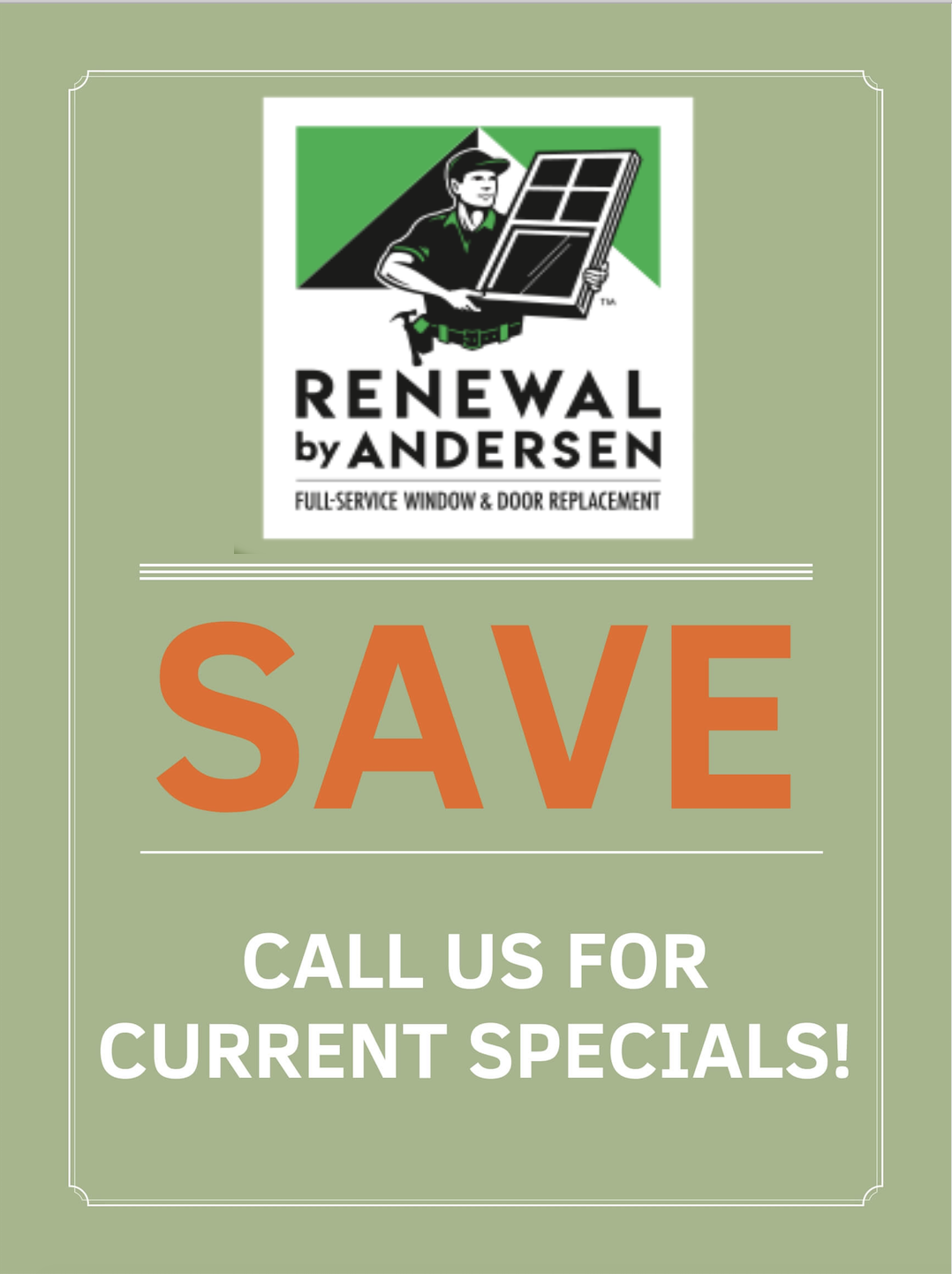 current renewal by andersen specials